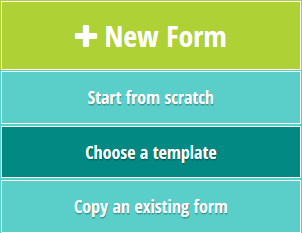 Create a new form using a template.