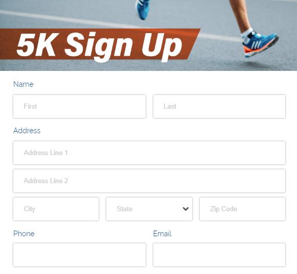 Form with a custom logo across the form header.