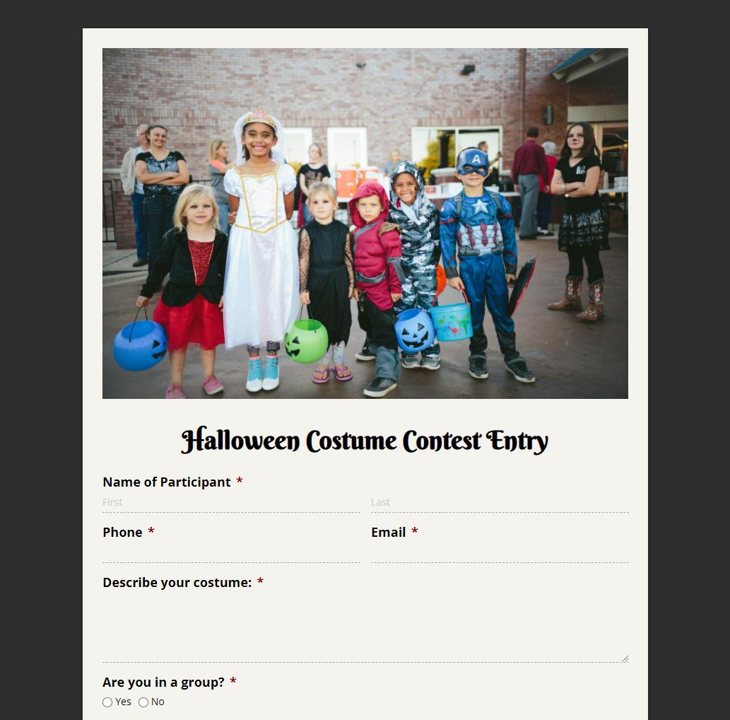 Halloween Costume Contest Entry