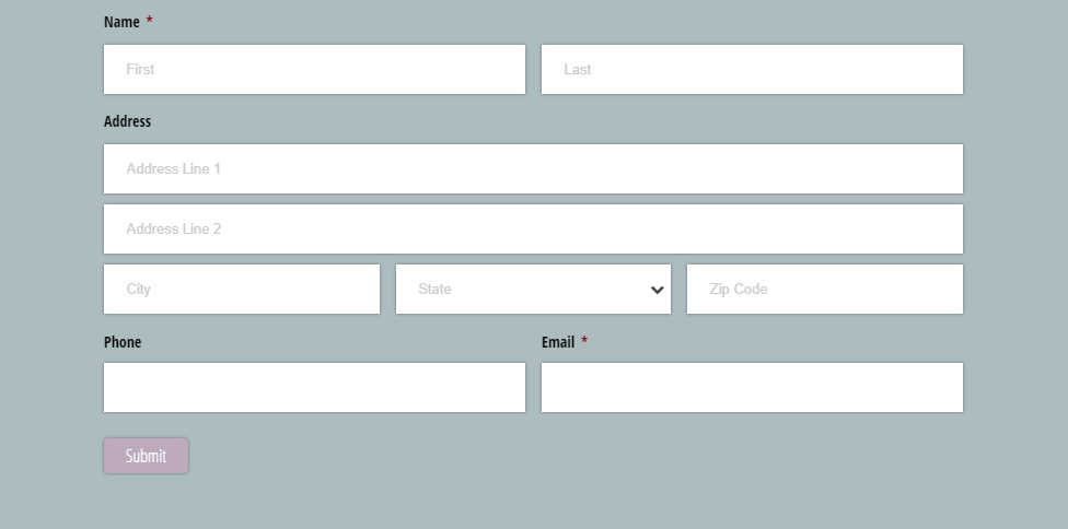Customize the background of your embedded form with CSS.