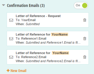 Multiple email confirmations that are customized for different users.
