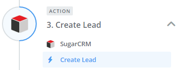 Set the Create Lead action in SugarCRM