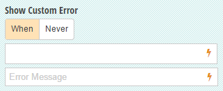 The custom error field allows users to create their own validation rules for their form fields.