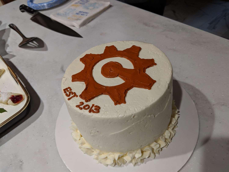 Cognito Forms Anniversary Cake
