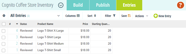 Use the Import option on the Entries page to upload or update entry data in bulk using an Excel document.