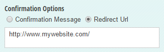 Custom confirmation page that automatically redirects to a different URL.