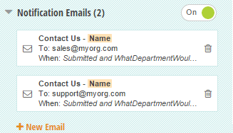 Create multiple email notifications