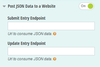Post JSON data to a website.