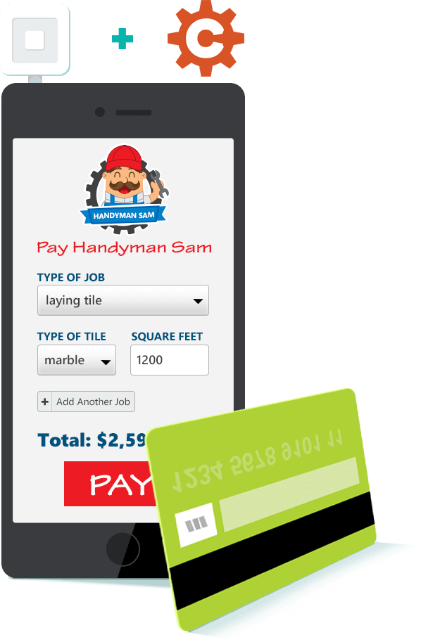 Online form with Square Payment