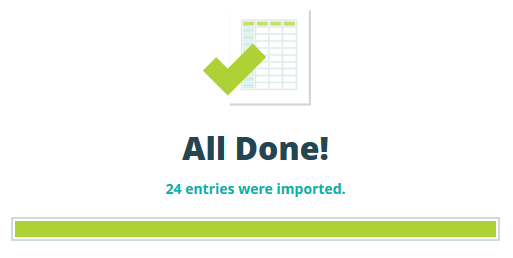 Successfully imported 24 entries.