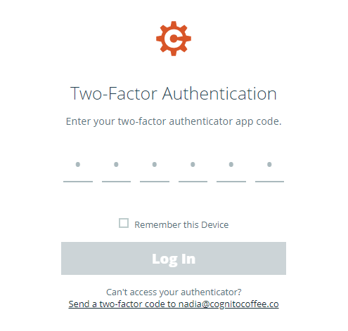 You can log in using the backup email that you added when setting up two-factor authentication for your account.