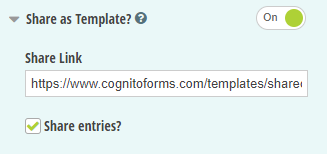 Copy the form share link and optionally include the associated entry data.