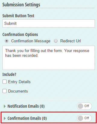 Create confirmation emails.