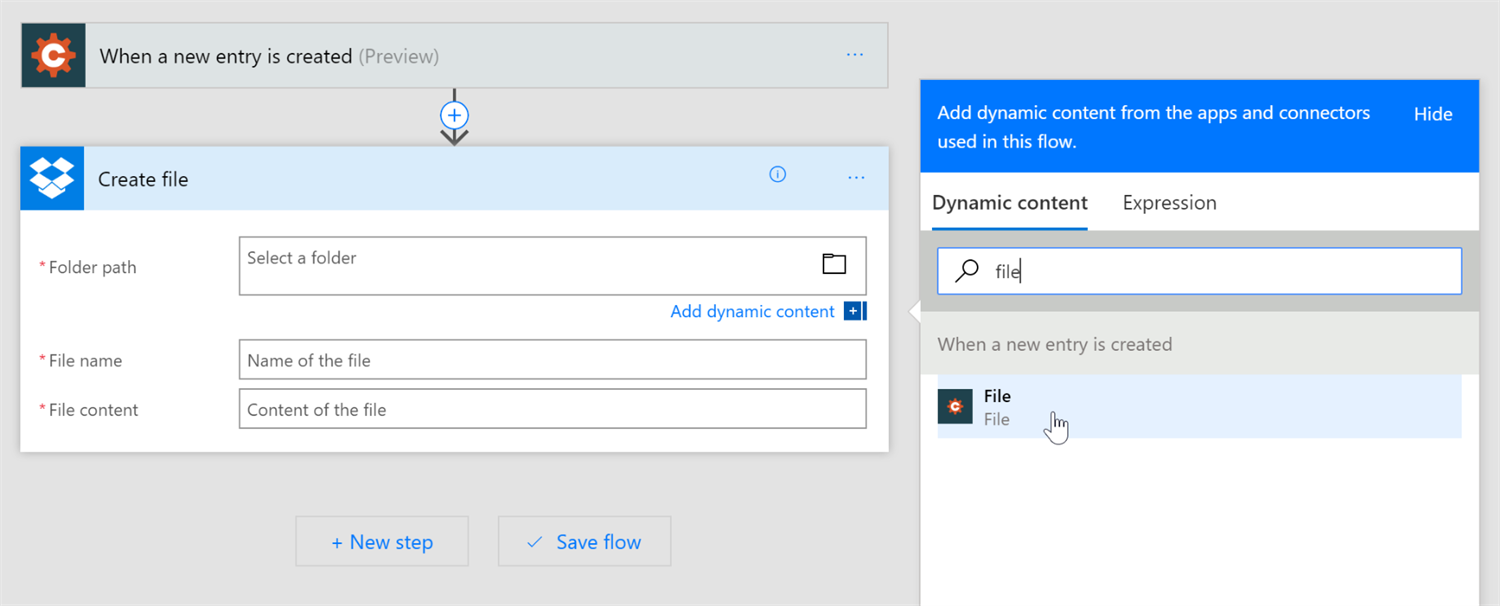 Sending an uploaded file through Microsoft Power Automate.