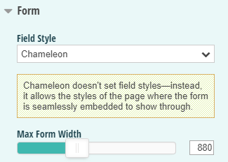 Enable Chameleon mode to pass through CSS from your website.