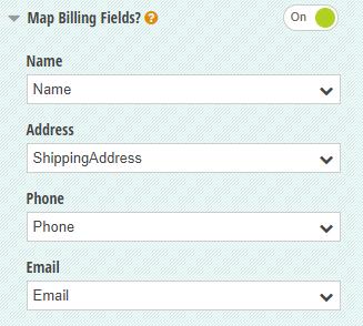 Map Billing Fields