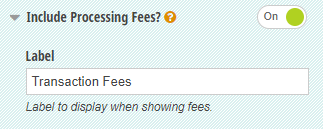 Include Processing Fees