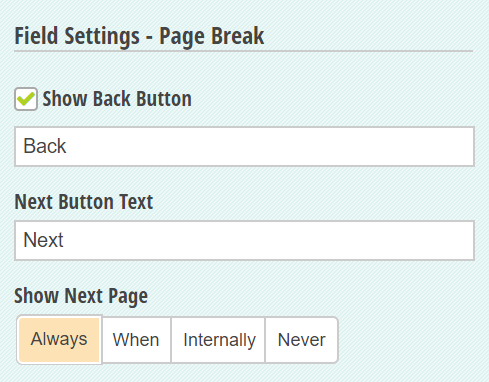Show Back Button