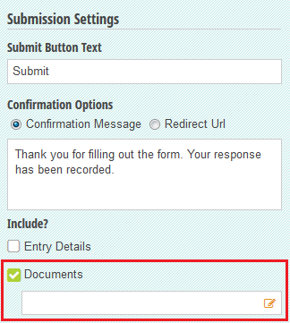 Including generated documents on the form confirmation page.
