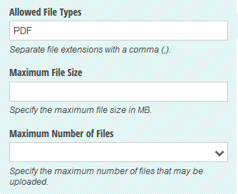 Restrict the type of files that can be uploaded as well as the file size of total number of files.